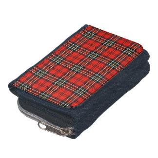 Tela escocesa roja del vintage