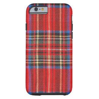 Tela escocesa roja funda para iPhone 6 tough