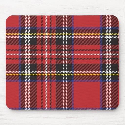 Tela escocesa roja Mousepad Alfombrilla De Raton