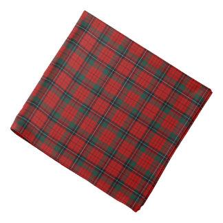 Tela escocesa roja, negra y verde del tartán del bandanas
