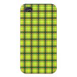 Tela escocesa roja, verde y amarilla iPhone 4 coberturas