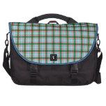 Tela escocesa roja, verde y azul bolsas de portátil