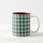 Tela escocesa roja, verde y azul taza