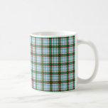 Tela escocesa roja, verde y azul tazas de café