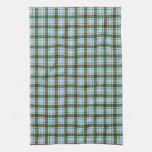 Tela escocesa roja, verde y azul toalla de mano