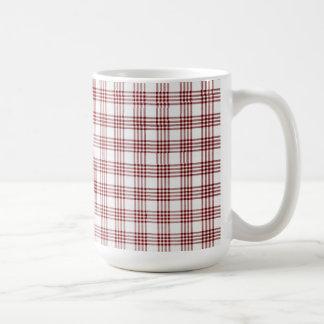 Tela escocesa roja y blanca taza clásica