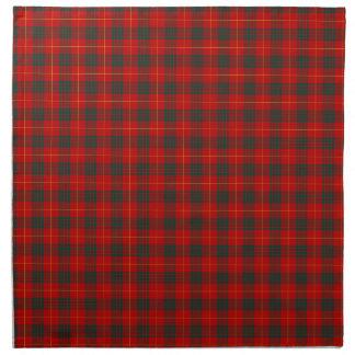 Tela escocesa roja y verde del tartán del clan de servilleta de papel