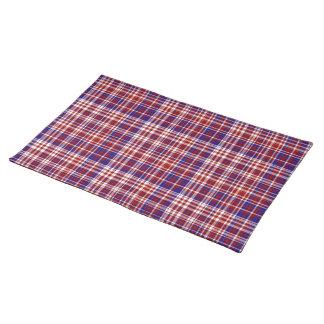 Tela escocesa, rojo, blanco, Coll azul. 01 paño Manteles