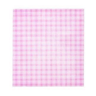 Tela escocesa rosada blocs de notas