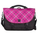 Tela escocesa rosada bonita bolsas para ordenador
