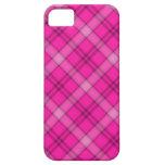 Tela escocesa rosada bonita iPhone 5 coberturas