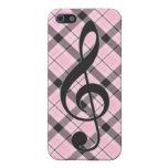 Tela escocesa rosada del caso del iPhone 4 del Cle iPhone 5 Cobertura