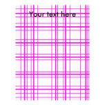 Tela escocesa rosada moderna en el fondo blanco plantilla de membrete