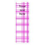 Tela escocesa rosada moderna en el fondo blanco plantillas de tarjetas personales