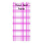 Tela escocesa rosada moderna en el fondo blanco lonas publicitarias