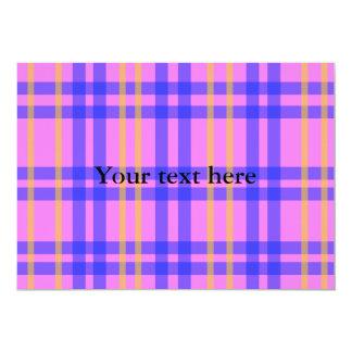 Tela escocesa rosada y amarilla azul retra comunicado personal