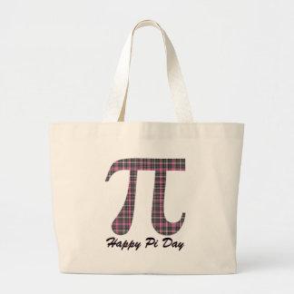 Tela escocesa rosada y negra 2 bolsa de mano