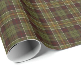 Tela escocesa rústica masculina del verde de Brown Papel De Regalo