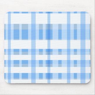 Tela escocesa suavemente azul y blanca tapete de ratón