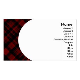 tela escocesa plantillas de tarjeta de negocio