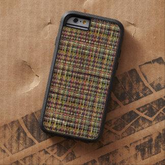 Tela escocesa tejida invierno colorido retro del funda de iPhone 6 tough xtreme