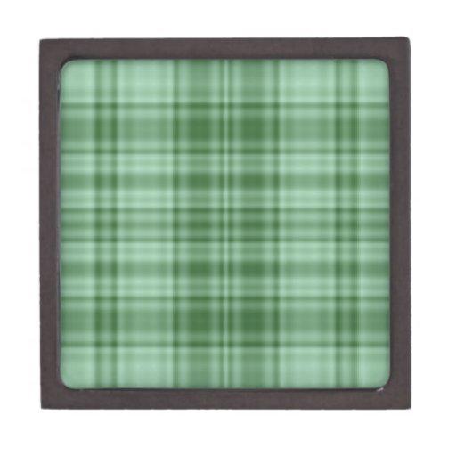 Tela escocesa verde cajas de regalo de calidad