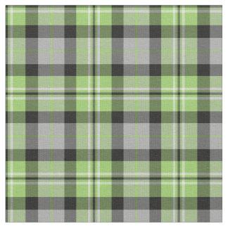 Tela escocesa verde clara, gris, blanco y negro telas