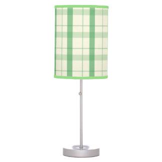 Tela escocesa verde clara lámpara de mesa