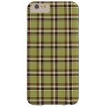 Tela escocesa verde clara y púrpura funda de iPhone 6 plus barely there