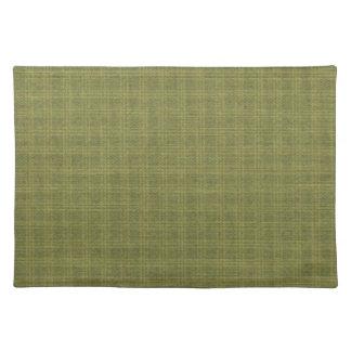 Tela escocesa verde colonial Placemats Mantel