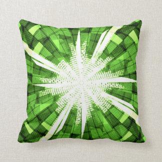 Tela escocesa verde con la almohada blanca de MoJo