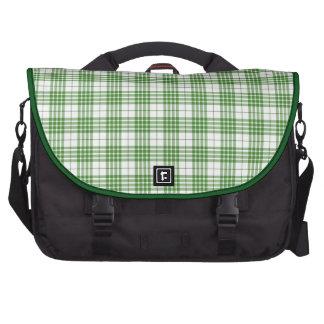 Tela escocesa verde de la primavera bolsa de ordenador