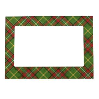 Tela escocesa verde del navidad foto de imanes