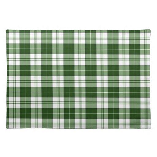 Tela escocesa verde manteles