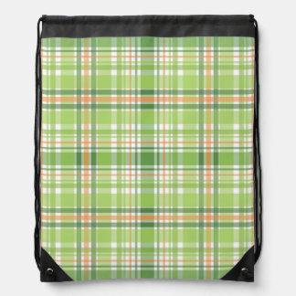 Tela escocesa verde mochila