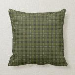 Tela escocesa verde oliva cojin