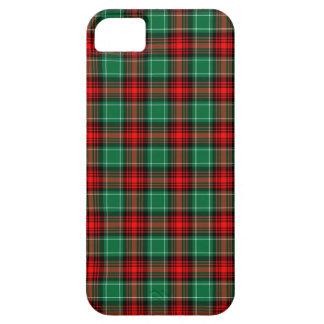 Tela escocesa verde roja del navidad funda para iPhone 5 barely there
