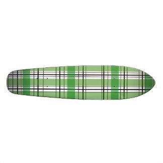 Tela escocesa verde y blanca retra patín personalizado