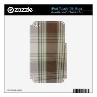 Tela escocesa - verde y blanco iPod touch 4G skin