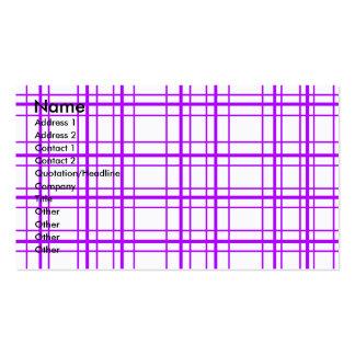 Tela escocesa violeta moderna en el fondo blanco tarjetas de visita
