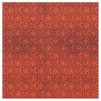 Tela esculpida del Estrella-Naranja-Zazzle Telas
