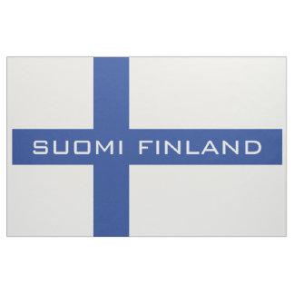 Tela finlandesa del personalizado de la bandera telas