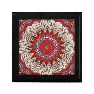 Tela floral árabe del vintage del adorno de la era joyero cuadrado pequeño