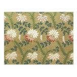 Tela floral del vintage (139) postal