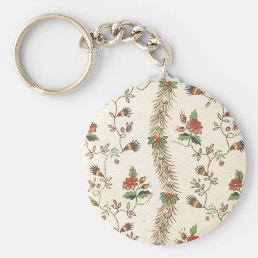 Tela floral del vintage (155) llaveros personalizados