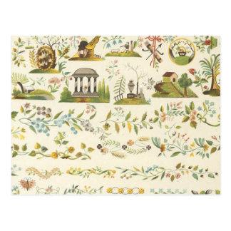 Tela floral del vintage (176) tarjetas postales