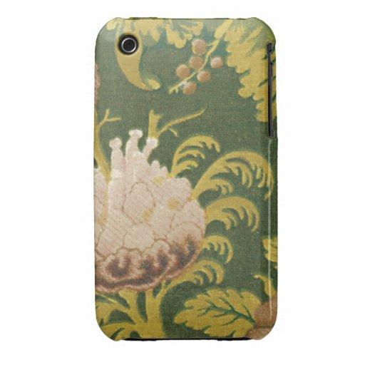 Tela floral del vintage (20) iPhone 3 Case-Mate coberturas