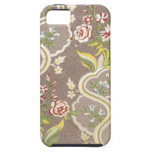 Tela floral del vintage (3) iPhone 5 fundas