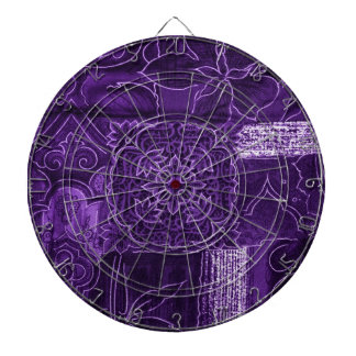 Tela floral púrpura del remiendo