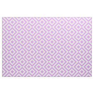 Tela geométrica del meandro de la lavanda y del telas